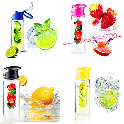 Bouteille infusion fruits 800ml sports vacance voyage plein air