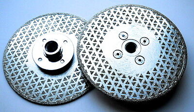 115mm - 230mm electroplated double sided blades. M14 FLANGED