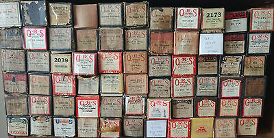 Lot Of 66 Assorted Player Piano Rolls Qrs Us Imperial International See List