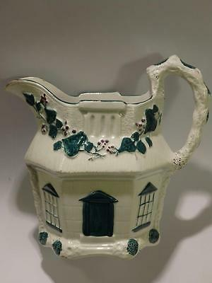 An Antique *  Staffordshire * White Pottery * Cottage Designed * Jug... C.1870