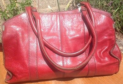 Vintage Retro 1970 S Leather Handbag