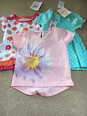 Girls Summer Tops Age 12-18 Months New With Tags
