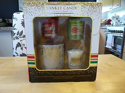 Yankee Candle Four Piece Votive Gift Set .