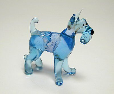 Funny Kerry Blue Terrier - Hand Made Art Glass Dog Breeds figurines