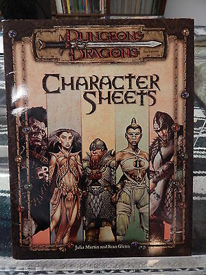 Dungeons and Dragons Character Sheets complete TSR 11642