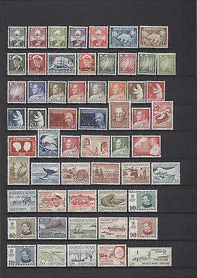 [GR02] GREENLAND collection 1938-1991 MNH 182 different CV $447