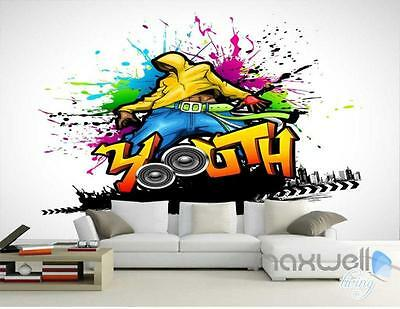 3D Graffiti Youth Wall Mural Paper Art Print Decals Decor