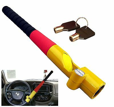 New Anti Theft Baseball Bat Style Steering Wheel Lock Heavy Duty With 2 Keys