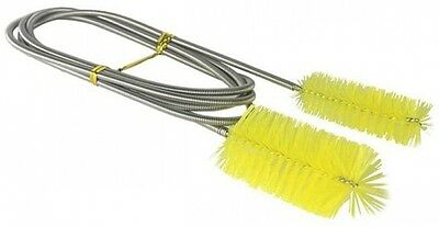 Aquarium Double Head Brush Yellow Cleaning Tool For Filter Pump Pipe