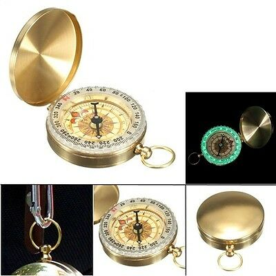 Pocket Watch Compass Classic Keychain Camping Hiking Navigation Outdoor Night