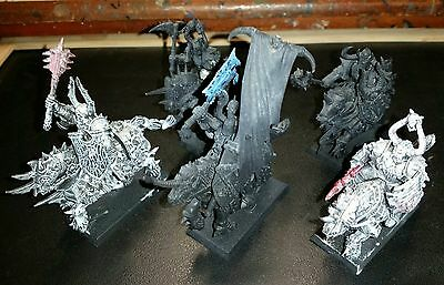 Warhammer Chaos Knights x 5. Built but unfinished.