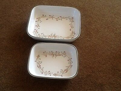 Johnson Brothers Eternal Beau - 2 Oven Lasagne Roasting Dishes in VGC
