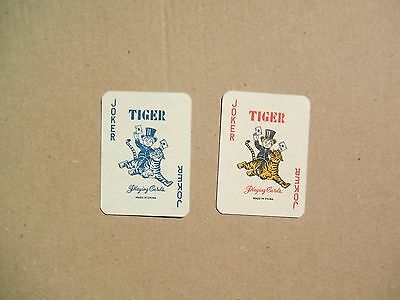 "Coppia Carte Da Gioco Jolly Joker - Pubblicita' "" Tiger Playing Cards """