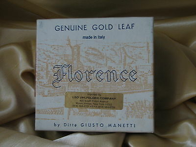 FLORENCE  Manetti 23K PATENT GOLD LEAF Box ( 20 books) Made in ITALY