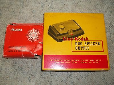 2 vintage film splicer: Telesar and Cine-Kodak Outfit
