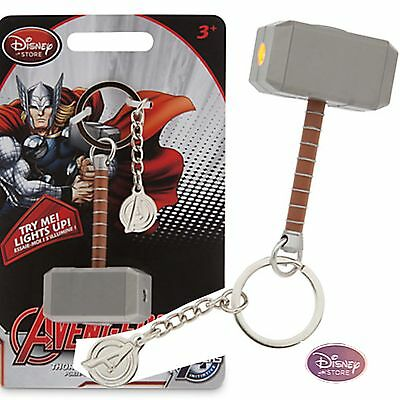 Disney Store NEW Thor  HAMMER light up KeyChain