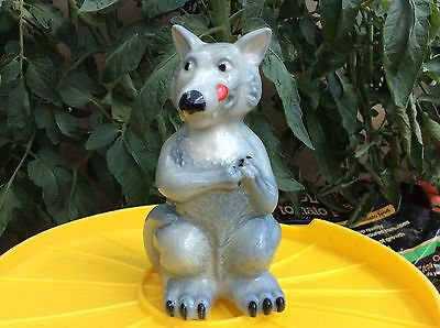 """Vintage  WADE Blow Up Figurine-""""The Big Bad Wolf""""-Mint Condition. 1995"""