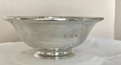 Antique Arts & Crafts Gorham Hand Hammered Sterling Silver Bowl 1916