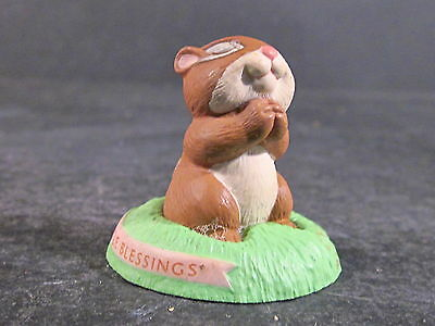 Hallmark Merry Miniatures 1992 GENTLE BLESSING Chipmunk Praying