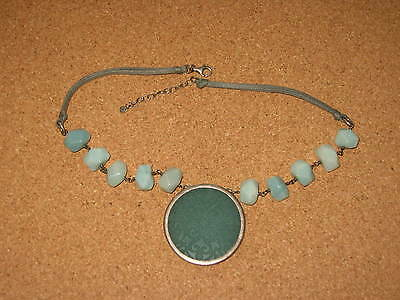 Silpada Sterling Silver Blue/green Stone Necklace