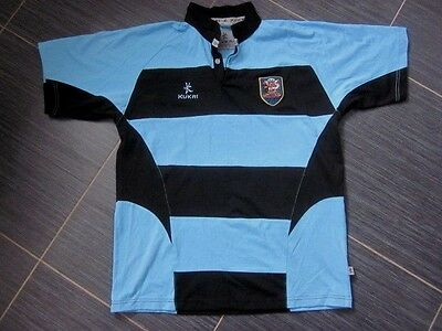 """Vintage Mens Wales Cardiff RFC (not Blues) Kukri Home Rugby Shirt (L - 42"""")"""