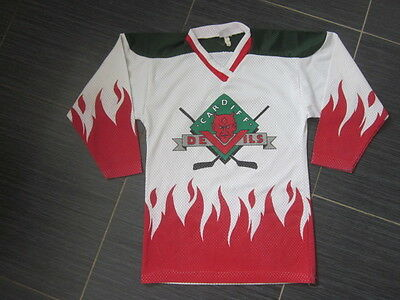 """Rare Vintage 1980s Wales Cardiff Devils Ice Hockey Jersey by HM Sports (28"""")"""