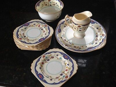 George Jones, Crescent - mixed China pieces.