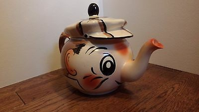 Wade Hand Painted Andy Capp Figural Teapot England Golfer Caddy Hat Elephant