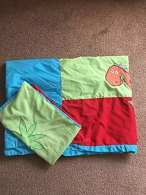 Child's Single Duvet Set With Matching Curtains