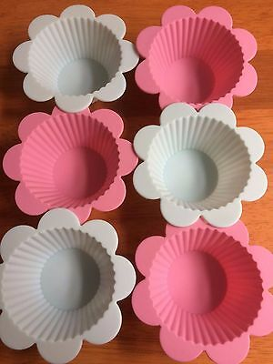 CUPCAKE MOULDS Avon Country Rose Cupcakes Molds Silicone Flower Cake Cases