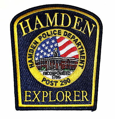HAMDEN – EXPLORER POST 290 - CONNECTICUT CT Police Sheriff Patch COURTHOUSE ~