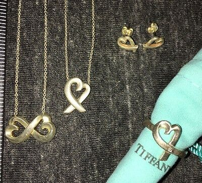 Tiffany Paloma Picasso Loving Heart Collection Diamond Ring Earrings Necklaces