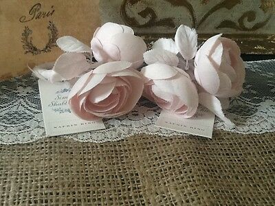 Lot of 2 SIMPLY SHABBY CHIC Pink Floral Napkin Rings - Ashwell - Retired - NWT