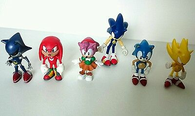Vintage SEGA Metal Sonic Super Sonic Sonic Knuckles and Amy Rose Figures Bundle