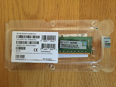 HP 500656-B21 1x2GB DUAL RANK 2Rx8 PC3-10600 (DDR3-1333)