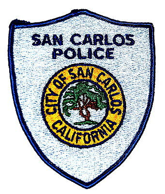 SAN CARLOS CALIFORNIA CA Police Sheriff Patch CITY SEAL LARGE TREE ~