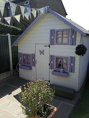 6x8 Childrens Wooden Playhouse - T&G Outdoor House Multi Storey