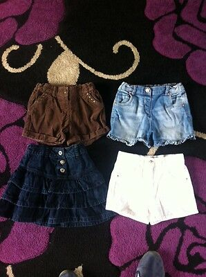 Girls Shorts And Skirt Age 4-5 Years
