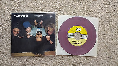 "Soundgarden - Room A Thousand Years Wide 7"" Purple Marble Sub Pop Chris Cornell"