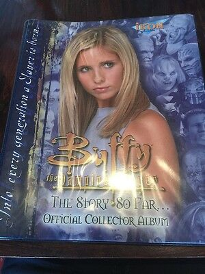Buffy The Vampire Slayer The Story So Far Almost Master Set In Binder With Bonus
