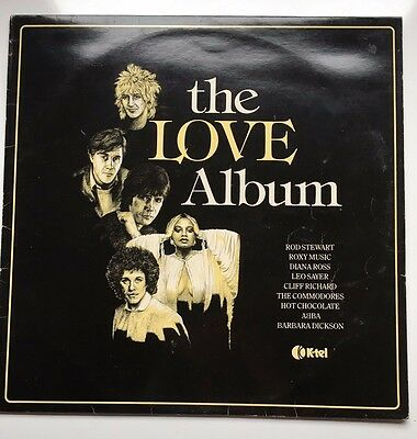 "12"" Vinyl LP - The Love Album - Various Artists - K-Tel"