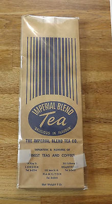 Vintage Imperial Tea Blend UNUSED Paper Tea Packages (5) Red and Blue in Lot