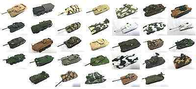 Set Of 33 Military Vehicles 1:72 - Diecast Tank War Ww2 Pz Panzer Us Army Russia