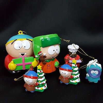 Comedy Central South Park lot of ornaments Cartman Kyle kenny Stan Mr Hanky