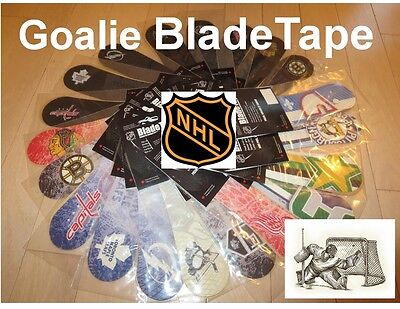 Goalie BladeTape, NHL Hockey Team Logos , Hockey Stick Tape , Replacement Tape