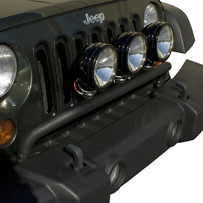 Jeep Wrangler Jk 2007 - 2018 Textured Black Powder Coated 3 Tab Light Bar