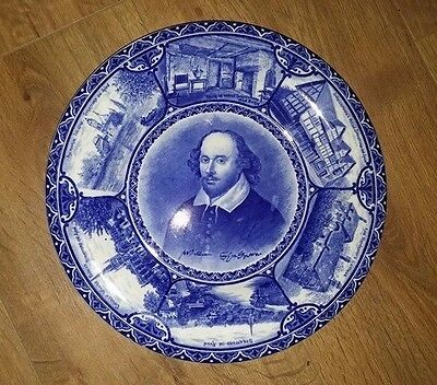 Antique Blue & White Plate by Samuel Hancock William Shakespeare Charger