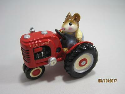 Wee Forest Folk Field Mouse Red Tractor - Super Cute! - Retired in WFF Box