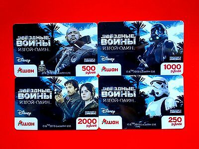 Russia Star Wars Rogue One, 4 Gift Cards - For Collection