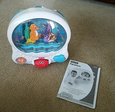 Fisher Price Ocean Wonder Aquarium Musical Motion Lighted Bubbles Crib Soother